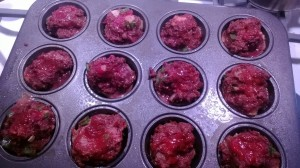 Meatloaf Muffin ketchup on