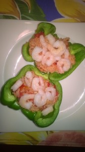 shrimp and rice stuffed peppers
